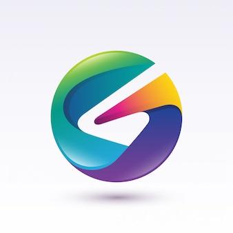 Logotipo do círculo letra g colorido