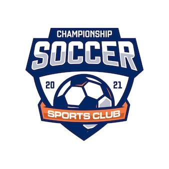 Logotipo do clube de futebol Vetor Premium
