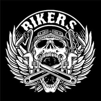 Logotipo do clube de motociclistas