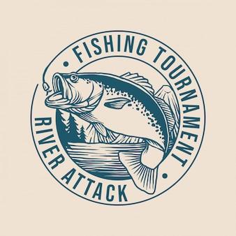 Logotipo do clube de pesca