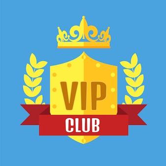 Logotipo do clube vip em estilo simples