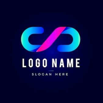 Logotipo do código gradiente criativo