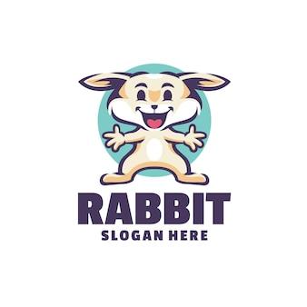 Logotipo do coelho isolado no branco