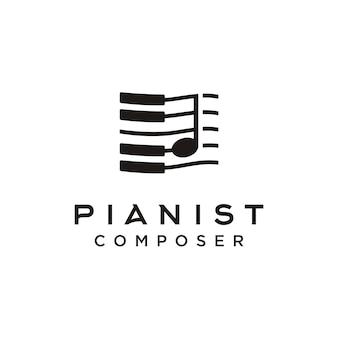 Logotipo do compositor de música de piano
