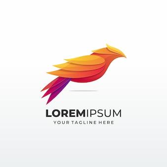 Logotipo do conceito abstrato de pássaro