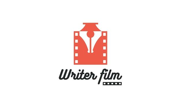 Logotipo do conceito do escritor do filme do escritor da caneta