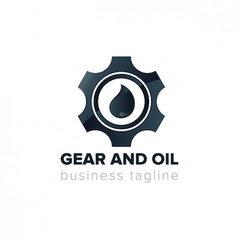 Logotipo do conjunto de engrenagens