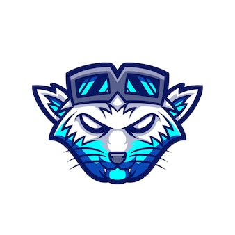 Logotipo do cool wolf esport para jogos