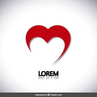 Logotipo do coração abstract