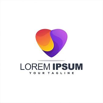 Logotipo do coração gradiente