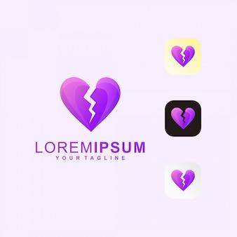 Logotipo do coração partido