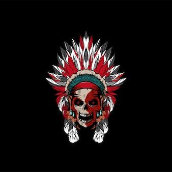 Logotipo do crânio apache