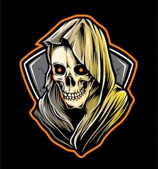 Logotipo do crânio da ceifeira