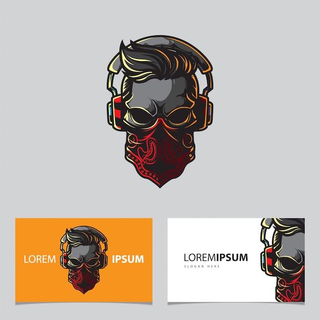 Logotipo do crânio de jogos