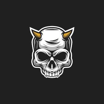 Logotipo do crânio do diabo