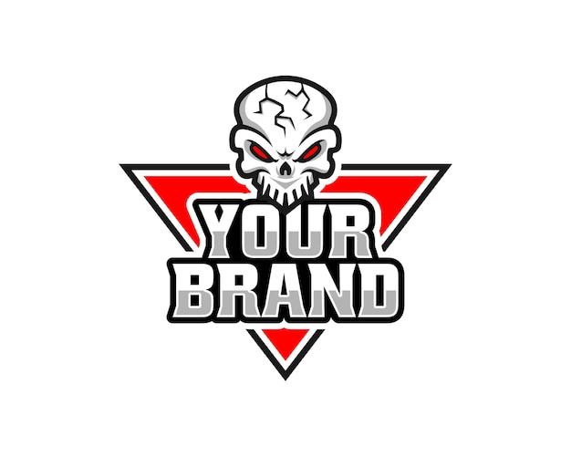 Logotipo do crânio, ícone ou ilustração do crânio