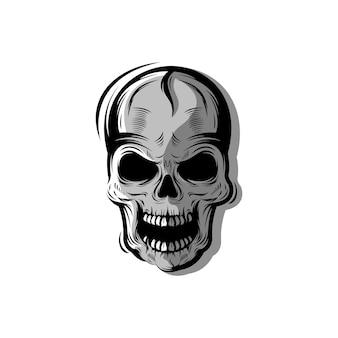 Logotipo do crânio impressionante