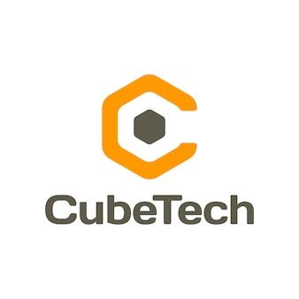 Logotipo do cube tech