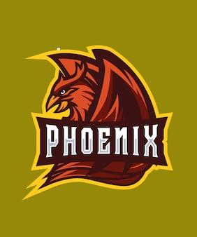 Logotipo do dark phoenix e sports