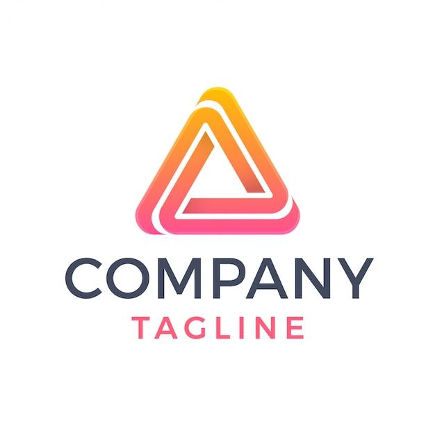 Logotipo do delta desportivo gradiente triângulo geométrico abstrato