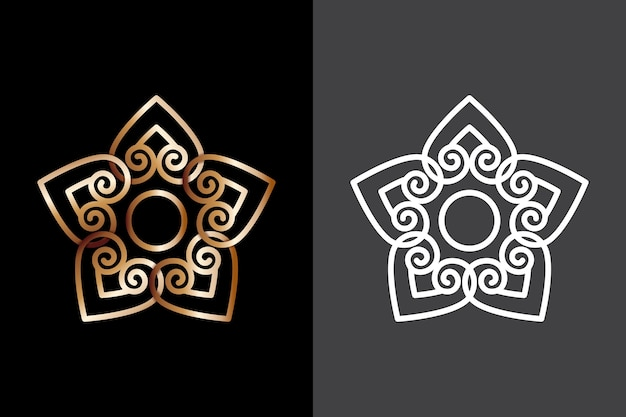 Logotipo do desenho abstrato em duas versões