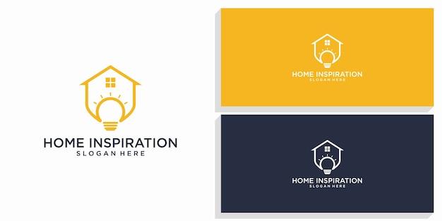 Logotipo do design de inspiração para casa