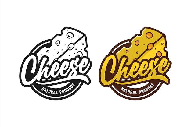 Logotipo do design de produto natural do queijo