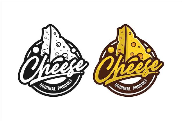 Logotipo do design de produto original do cheese
