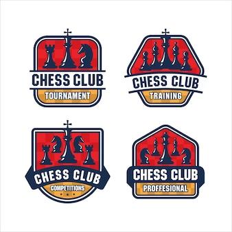 Logotipo do design do emblema de xadrez