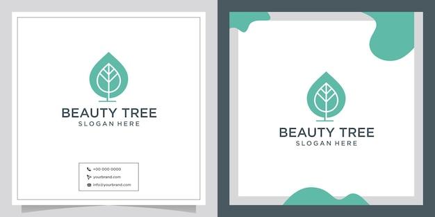 Logotipo do design inicial da beauty three para cosméticos