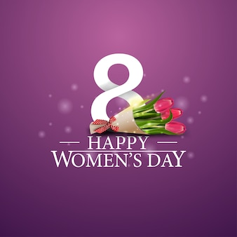 Logotipo do dia da mulher feliz com presentes