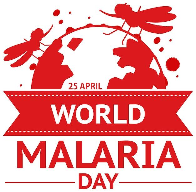Logotipo do dia mundial da malária ou conceito de banner