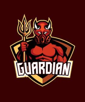 Logotipo do diabo do guardião do diabo