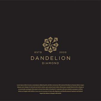 Logotipo do diamante-leão premium