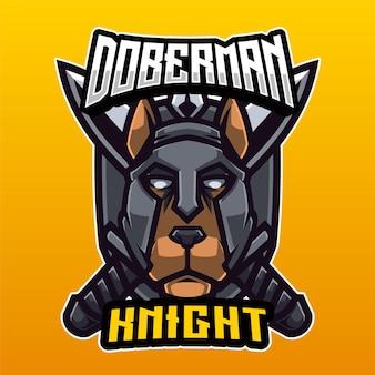 Logotipo do doberman knight