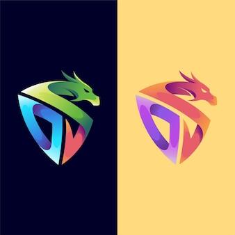 Logotipo do dragão com o conceito da letra
