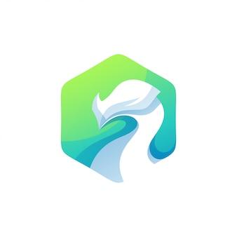 Logotipo do dragão de cor moderna
