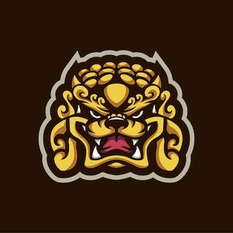 Logotipo do dragão dourado