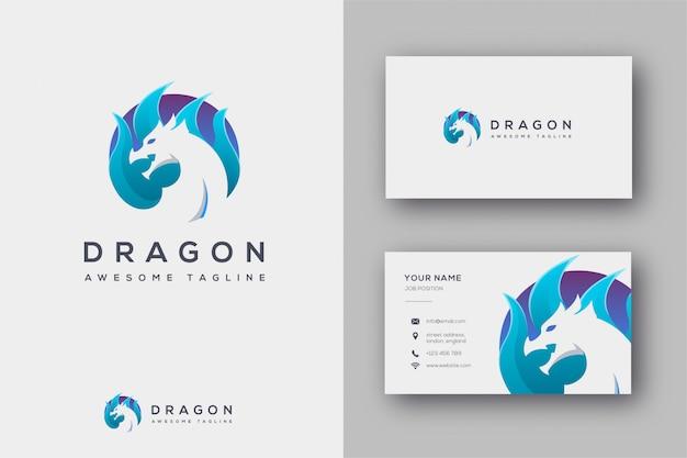 Logotipo do dragão e cartão de visita