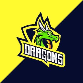 Logotipo do dragão esport e esporte