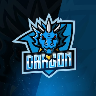 Logotipo do dragon mascot esport