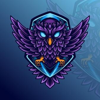 Logotipo do e-sport da coruja