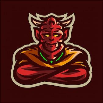 Logotipo do e-sport do diabo