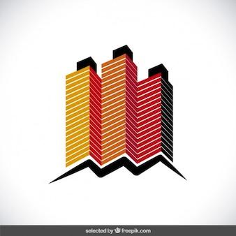 Logotipo do edifício 3d