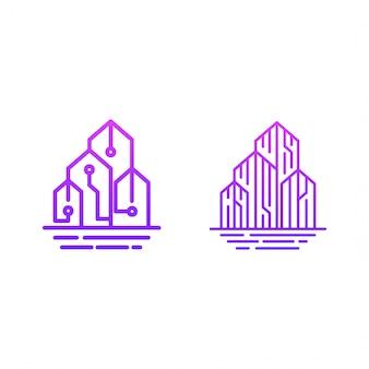 Logotipo do edifício de tecnologia
