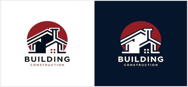 Logotipo do edifício ícone do logotipo da indústria de construção civil moderna empreiteiro de moradias