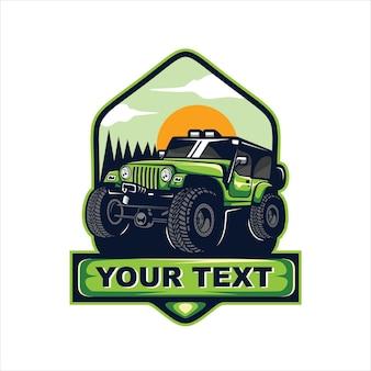 Logotipo do emblema 4x4 off-road