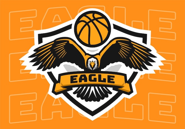 Logotipo do emblema da águia do basquete