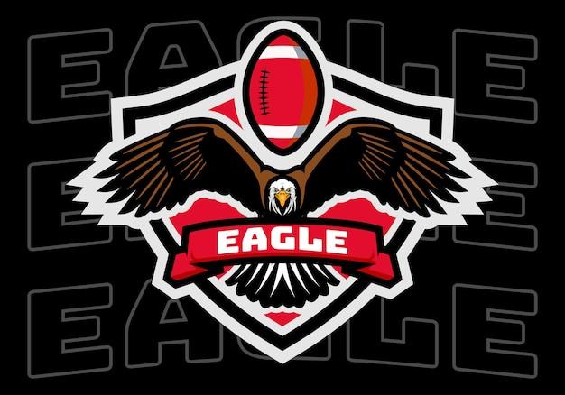 Logotipo do emblema da águia do futebol americano