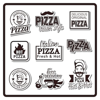 Logotipo do emblema da pizza